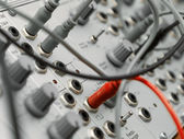 Analog modular synth — Stock Photo