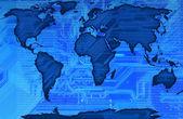 A la luz verdedünya haritası — Stok fotoğraf