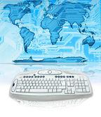 Komputer świat — Zdjęcie stockowe