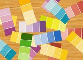 Color pattern strips — Stock Photo