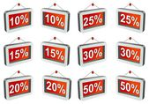 3D discount labels — Stock Photo