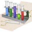 Test tubes in rack — Stock Photo #29436593