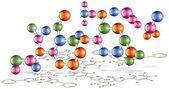Organic chemistry scheme — Stock Photo