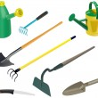 Stock Photo: Set of garden tools