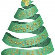 Christmas tree with music dots — Stock Photo
