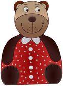 Colored cartoon bear — Stock Photo