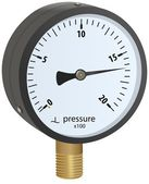 Analogue metal manometer — Stock Photo