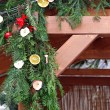 Stock Photo: Decorated Christmas conifer branches
