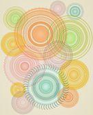 абстрактный фон с красочными кругах — Стоковое фото