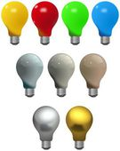 Set of different colored light bulbs — Stock Photo