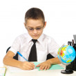 Boy in the classroom — Stock Photo