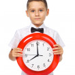 A boy and a clock — Stock Photo #29647761