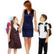 Mother and children going — Stock Photo #29944911