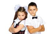öğrenciler erkek ve kız — Stok fotoğraf