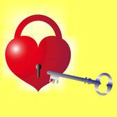 Key to the heart — Stock Vector