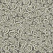 Seamless pattern with decorative roses flowers - Illustration — Stok Vektör