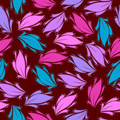 Seamless floral pattern - Illustration — Cтоковый вектор