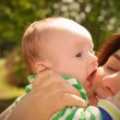 Child Kissing his Mother — Stock Photo #27076017