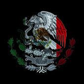 Mexican flag coat of arms — Stock Photo