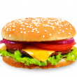 Hamburger isolated on white background. — Stock Photo