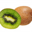 Kiwi fruit isolated on white — Stock Photo