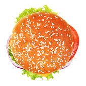 Hambúrguer isolado no fundo branco. — Foto Stock