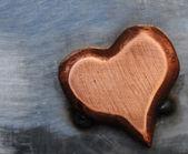 Metalen hart — Stockfoto