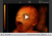4d ultrasound of baby in mother's womb. — 图库照片