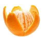 Open orange fruit isolated. — Stock Photo