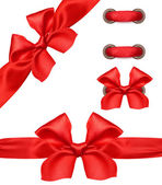 Red satin ribbon and bow isolated — Stock Photo