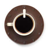 Coffee cup with clock. — Stock Photo