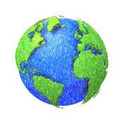 Sketh globe of the world. — Stock Photo