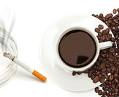 Nicotine and caffeine — Stock Photo