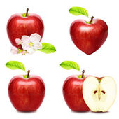 Set of apples isolated on white background — Stock Photo