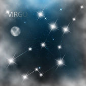 Constellation sign bright stars in cosmos. — Stock Photo