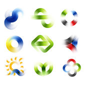 Different abstract logos and elements for design(icon) — Stock Photo