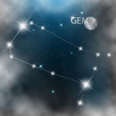 Constellation sign bright stars in cosmos — Stock Photo
