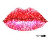 抽象的な梨花の唇. — ストック写真
