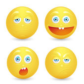 Illustration set of smiley — Stock Photo