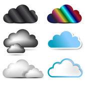 Cloud icon set. — Stock Photo