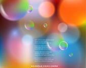 Abstract colorful background with bubbles — Stock Photo