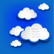 Abstract web design background with clouds.EPS10 vector illustration. — Stock Vector