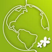 Vector eco green planet. — Stock Vector