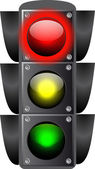 Vector illustration of traffic lights isolated. — Stock Vector