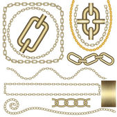 Metal chain vector set. — Stock Vector