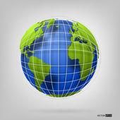 Globe of the world. EPS10 vector illustration. — Stock Vector