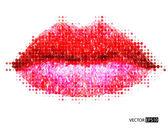 Abstract vector woman lips. — Stock Vector
