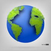 世界の 3 d 地球儀。ラスターのバージョン. — ストックベクタ