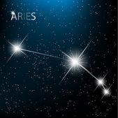 Aquarius Zodiac sign bright stars in cosmos. Raster version — Stock Vector
