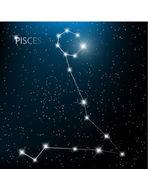 Acuario del zodiaco signo estrellas brillantes en cosmos. versión de trama — Vector de stock